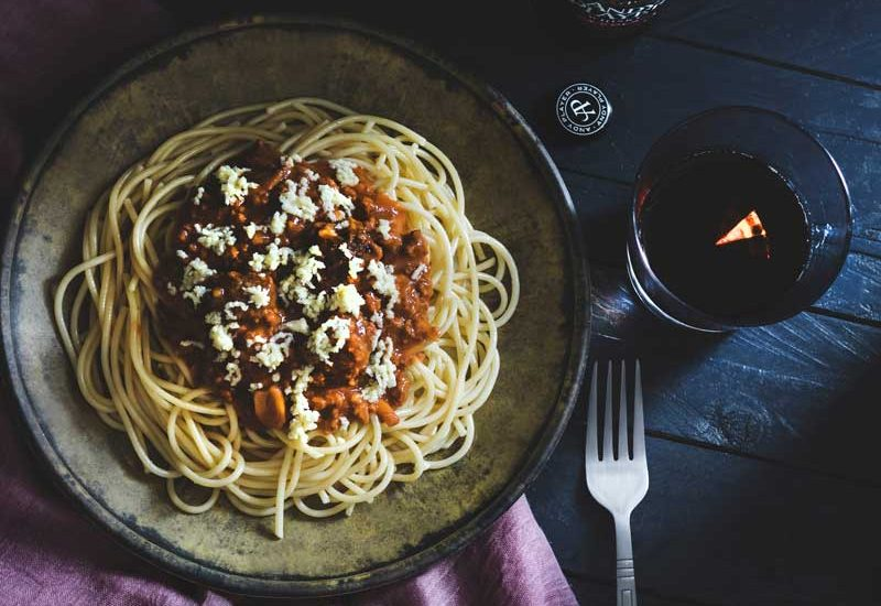 vin avec bolognaises