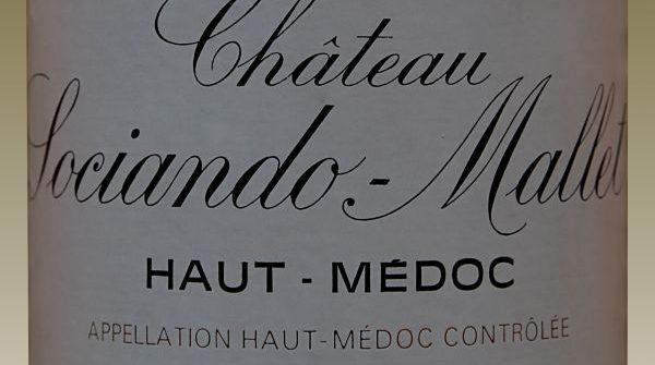 Étiquette d'une bouteille de Château Sociando Mallet millésime 1990
